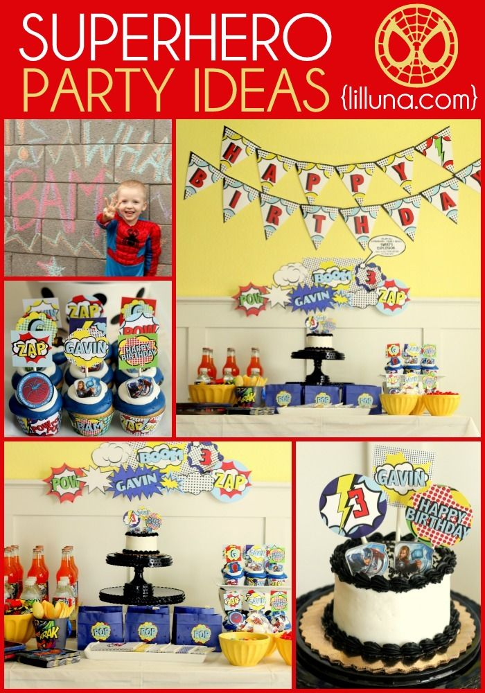 Superhero Birthday Ideas. I know this is meant for a toddler, but I want it to be mine...
