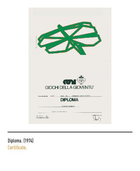 Marchio Coni - Diploma 1974