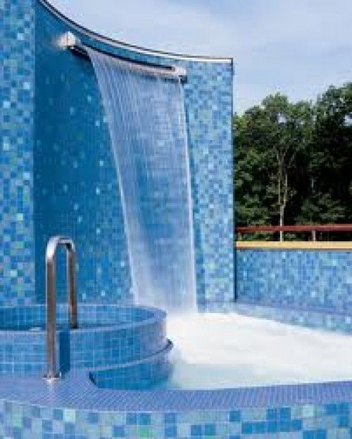 Waterfall Swimming Pool Designs find this pin and more on custom water feature swimming pools garden ponds and backyard landscaping Swimming Pool Designs With Waterfalls
