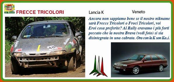 _FRECCE TRICOLORI http://rallydeglieroilarivincita.blogspot.it/p/catalogo-degli-eroi.html #LaRivincita #RallydegliEroi @RobertoCattone