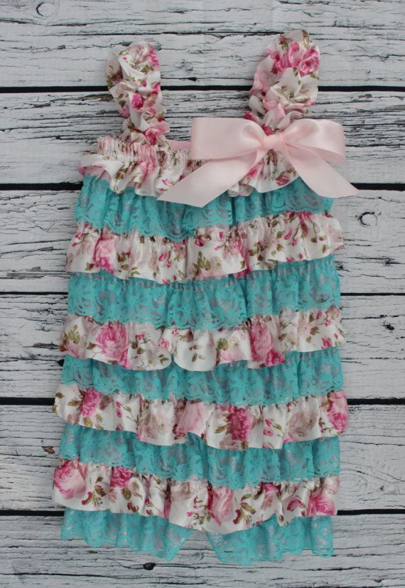 First Birthday Outfit Girls Lace Ruffle by ButtonsandLaceShop