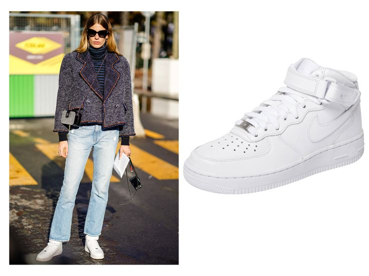 Shop the Sneakers Street Style Stars are Wearing - NIKE AIR FORCE 1 '07 from InStyle.com