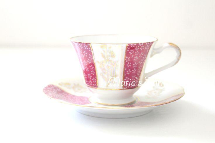Vintage tazza porcellana e piattino Duo di Napcoware