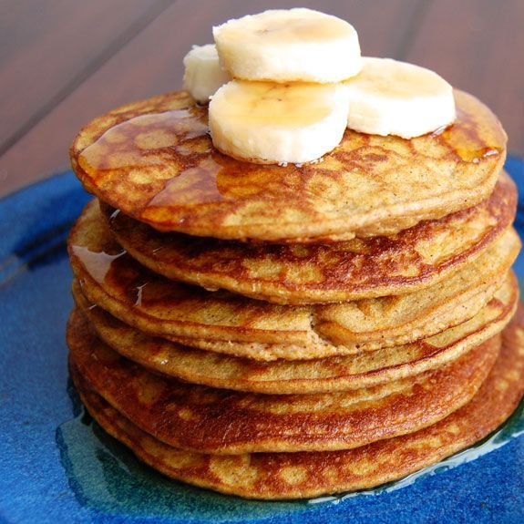 Gluten-free pumpkin pancakes from paleo Grubs - substitute rice malt syrup for honey for sugar free!