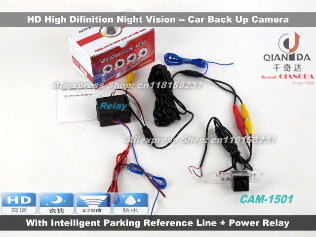Камера автомобиля Для Volkswagen VW Polo Sedan 2003 ~ 2008/Вид Сзади резервное Копирование Камеры/Камера CCD Ночного Видения + Реле Мощности Выпрямителей