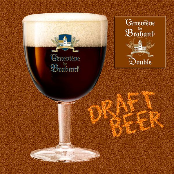 Geneviève de Brabant Double - Draught beer. A brown beauty with hazel eyes, pleasing to palate and throat alike.
