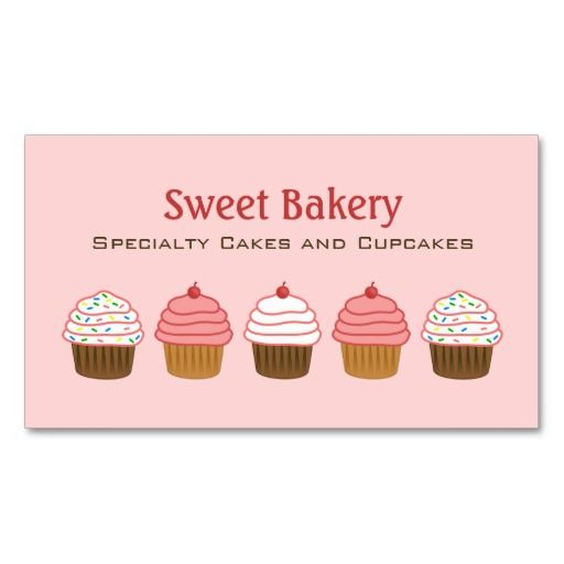 520 best bakery business card templates images on pinterest bakery bakery cupcake business cards cheaphphosting Image collections