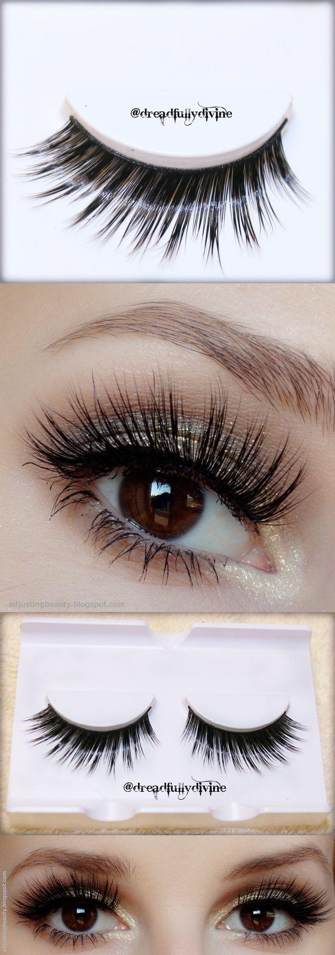 $3.99 Mink Hair Handmade Black False Eyelash Long Volume Fake Eye Lash #D-3 - BornPrettyStore.com