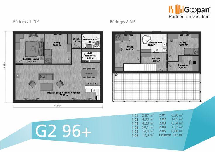 Plánujete velkou rodinu? :) Tak právě pro vás máme řešení krásného bydlení v impozantním dvouposchoďovém domě G2 96+ s dispozičním řešením až 6+kk, který je vhodný nejen pro mnohočlennou rodinu, ale i pro klienty žádající velký osobní prostor. Tento dům může být váš již za 10 092,- Kč měsíčně :)