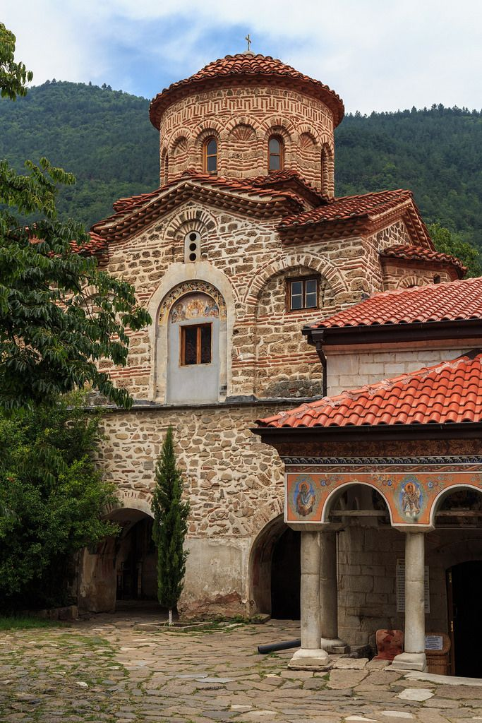 """Bachkovo Monastery: """"This is Bulgaria's second-largest monastery; it is less vivid than Rila Monastery, its colours softer and its buildings more gently rounded, but it is still a most impressive ensemble."""" Bulgaria: the Bradt Guide; www.bradtguides.com"""