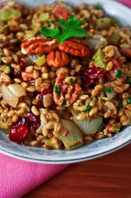 Fall Barley Pilaf with Cherries and Pecans: Vegetarian Food, Bulgur Stuffed, Healthy Breakfast, Thanksgiving Recipe, Barley Pilaf, Cherries Bulgur, Healthy Recipe, Pecans Cherries, Food Recipe