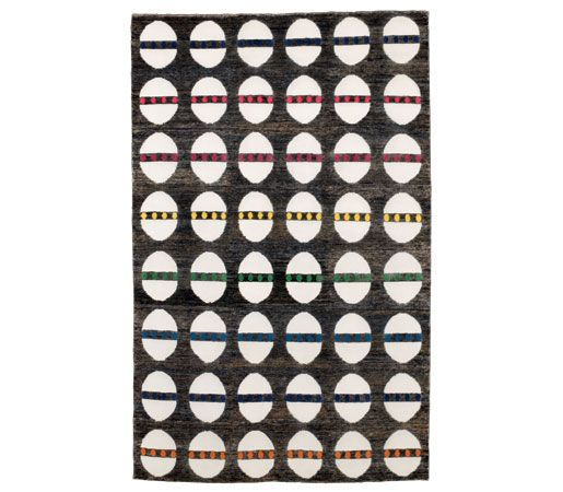 Kit Kemps Egg And Dart Rug For Christopher Farr Is Hand Knotted With