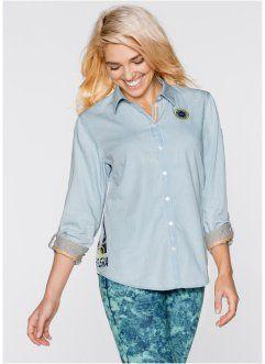 Длинная блузка с рукавом 3/4, bpc bonprix collection, нежная фуксия
