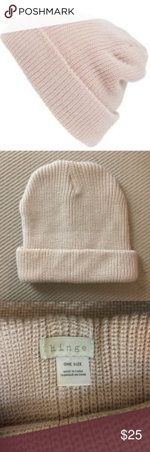 Hinge Blush Pink Beanie Blush/light pink knit beanie from Hinge (Nordstrom). One size. Excellent condition, no flaws! Nordstrom Accessories Hats