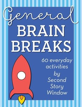 Here are 60 fun everyday brain break activities to get your students refocused, refreshed, and recharged!This is also part of the Bundle of Brain Breaks for the Whole Year!We have 3 types of brain breaks: Recharge - these brain breaks are for movement.