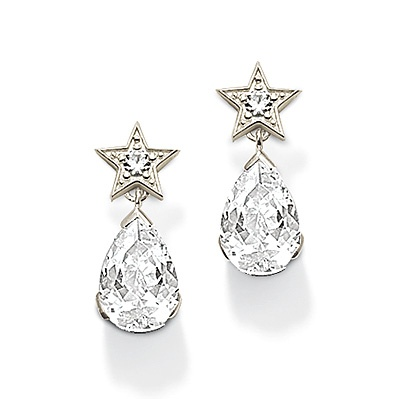 THOMAS SABO Five-star transparent water droplets earrings