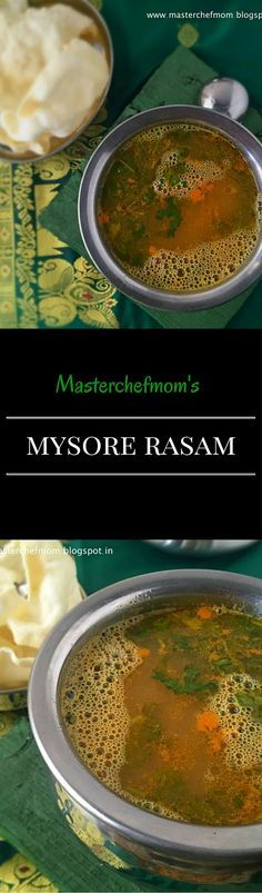 MASTERCHEFMOM: Mysore Rasam | Karnataka Special Recipe | How to make Mysore Rasam at home | Traditional Rasam Recipe