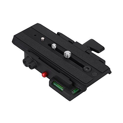 Paladia MH631 Quick Release Adapter with MH611 Long Sliding Plate Compatible with Giottos 357PLV for Camera Tripod Head