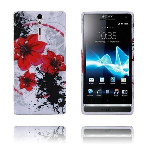 Symphony (Røde Blomster) Sony Xperia S Deksel