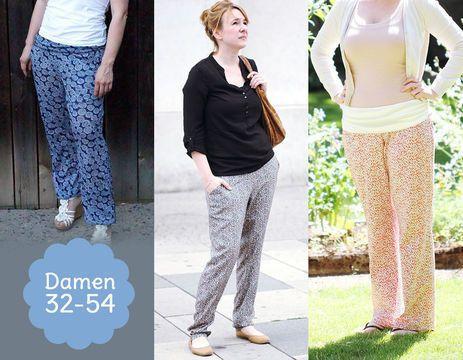 Schnittmuster Sommerhose DREAMY für Damen - Schnittmuster und Nähanleitungen bei Makerist