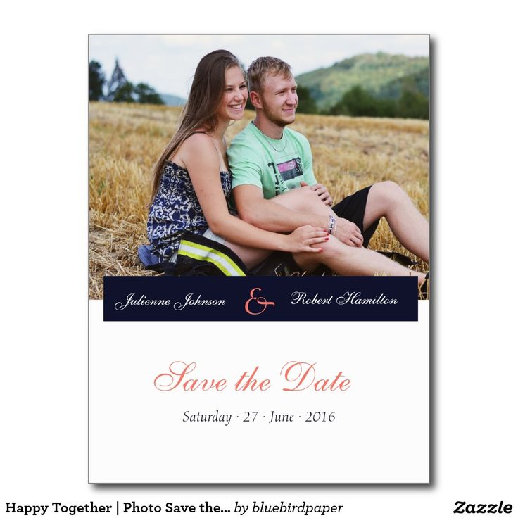 Happy Together | Photo Save the Date Postcard