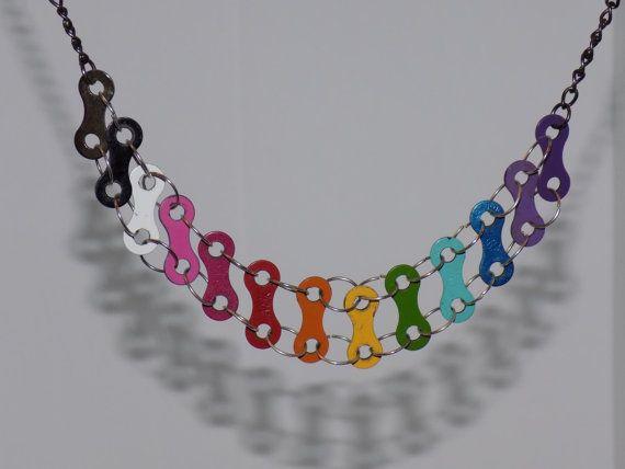 Gioielli arcobaleno biciclette catena Link collana di KyokoAndYuki