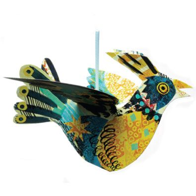 Mark Hearld hanging bird - yellow
