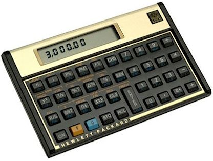 Legendary HP12C Financial Calculator..  Introduced in 1981 still being sold today..   Limited Platinum Edition made in 2011  Price about 135USD  I luv it and still use it :))