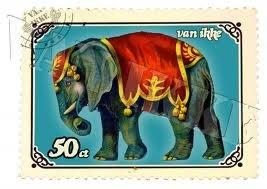 Super retro postzegel applicatie van een circus olifant. Geschikt om te strijken op alle stoffen ondergronden en wasbaar tot 60 graden. De strijkapplicatie wordt zonder beeldmateriaal beschermend watermerk geleverd.
