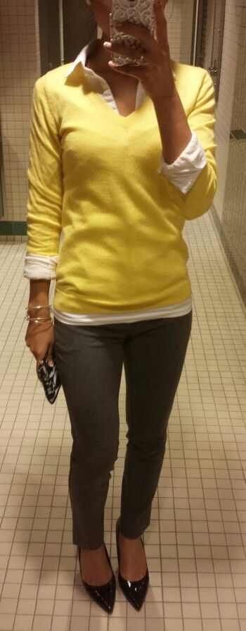 Business casual. Yellow!