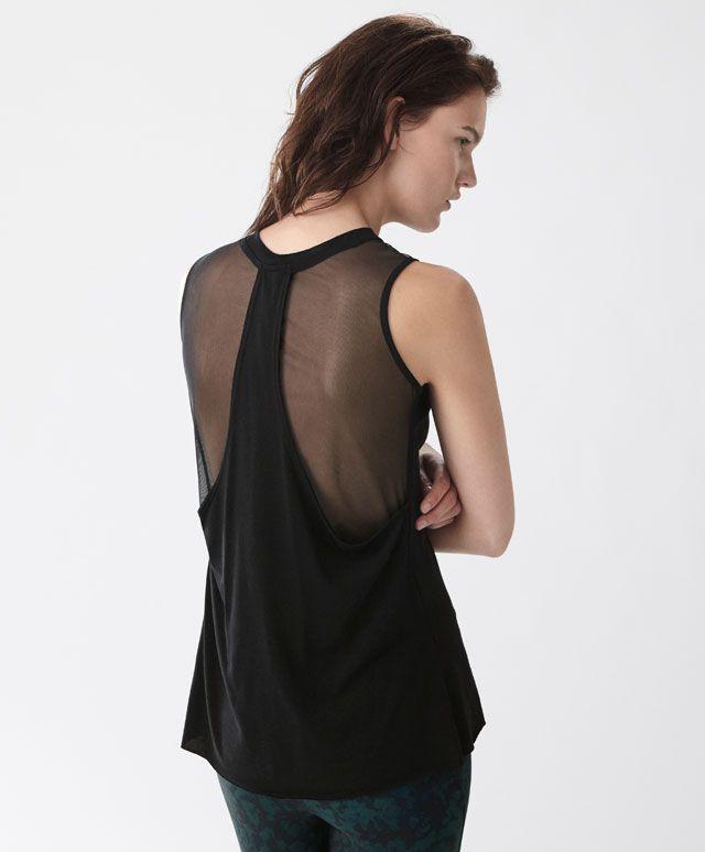Sleeveless mesh top - New In - SPORT | Oysho