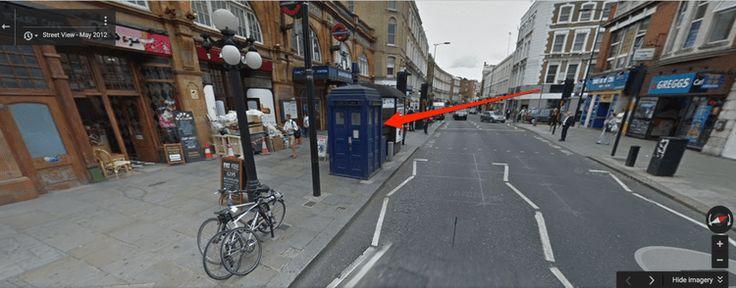 Explore a Secret TARDIS in Google Maps Tardis, Maps