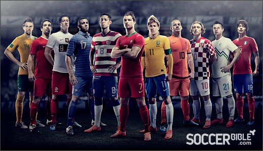 Full reveal of #Nike home kits. Kinda suprise at the #USMNT kit as well as the number of #MercurialVapor athletes