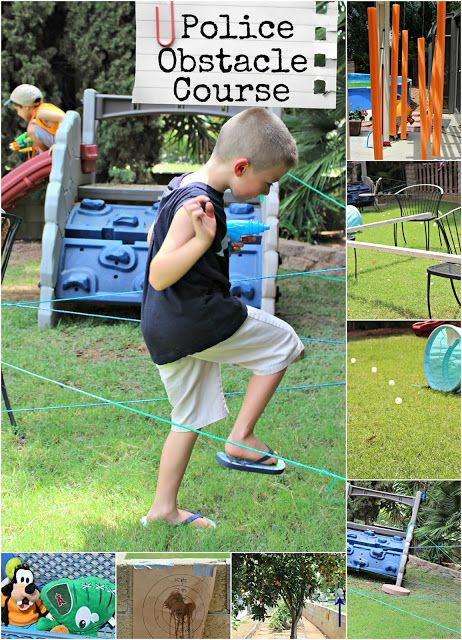 "Summer fun Kids Obstacle Course - banish the ""I'm bored!"" with this outdoor activity!  // Kutz, Paper, Scissors"