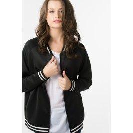 Sporty black zip up sweater