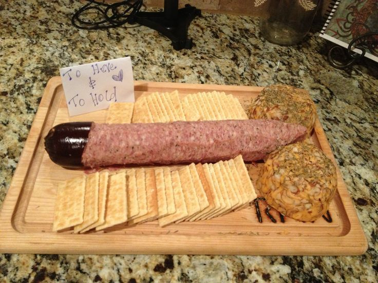 The perfect mix of dirty and delicious. Penis shaped salami. This twist on a classic appetizer is perfect for a Bachelorette Party.