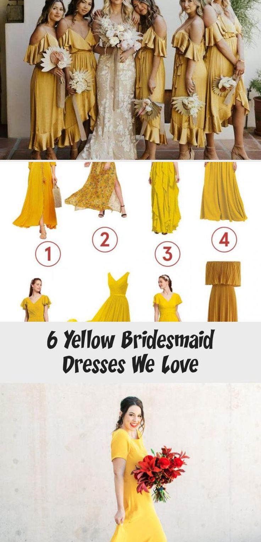 6 Yellow Bridesmaid Dresses We Love - Tremaine Ranch #LilacBridesmaidDresses #BridesmaidDressesBeach #OffTheShoulderBridesmaidDresses #GrayBridesmaidDresses #BridesmaidDressesLong