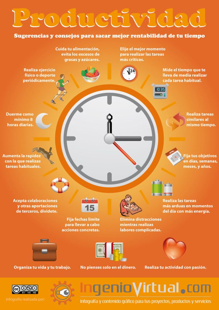 Mejora tu productividad #infografia #infographic #productividad
