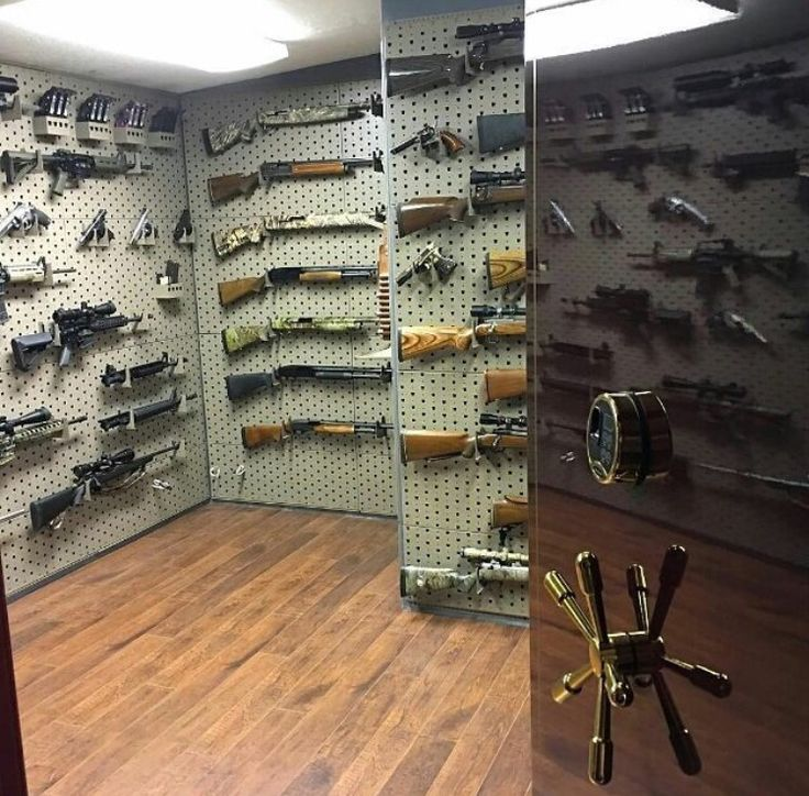 The 650 best ideas about gun safes cases storage on for Walk in gun vault room