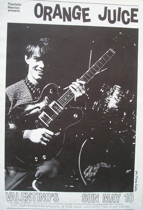 orange juice flyer, edwyn collins.