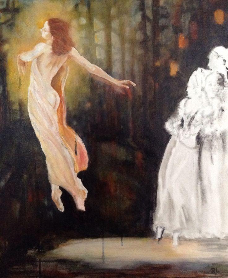 #mixed media#canvas#45x55#ballet#rithva.dk