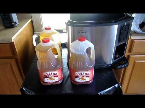 Draining the Oil from a Butterball Indoor Turkey Fryer - YouTube