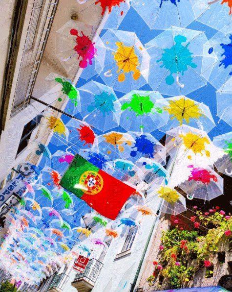 Colorful umbrellas @Agitagueda  #agitagueda #agitagueda2016 #agitaguedaartfestival #agueda #streetart #festival #urbanart #umbrellaskyproject