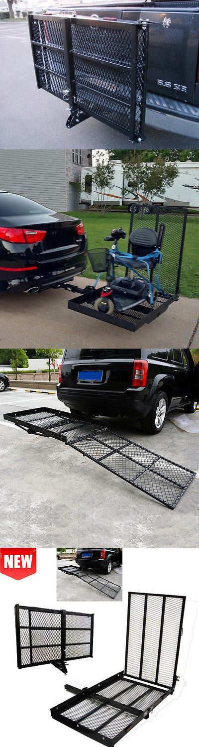 Access Ramps: Foldable Electric Wheelchair Hitch Carrier Mobility Scooter Fold Loading Ramp@K# BUY IT NOW ONLY: $107.45