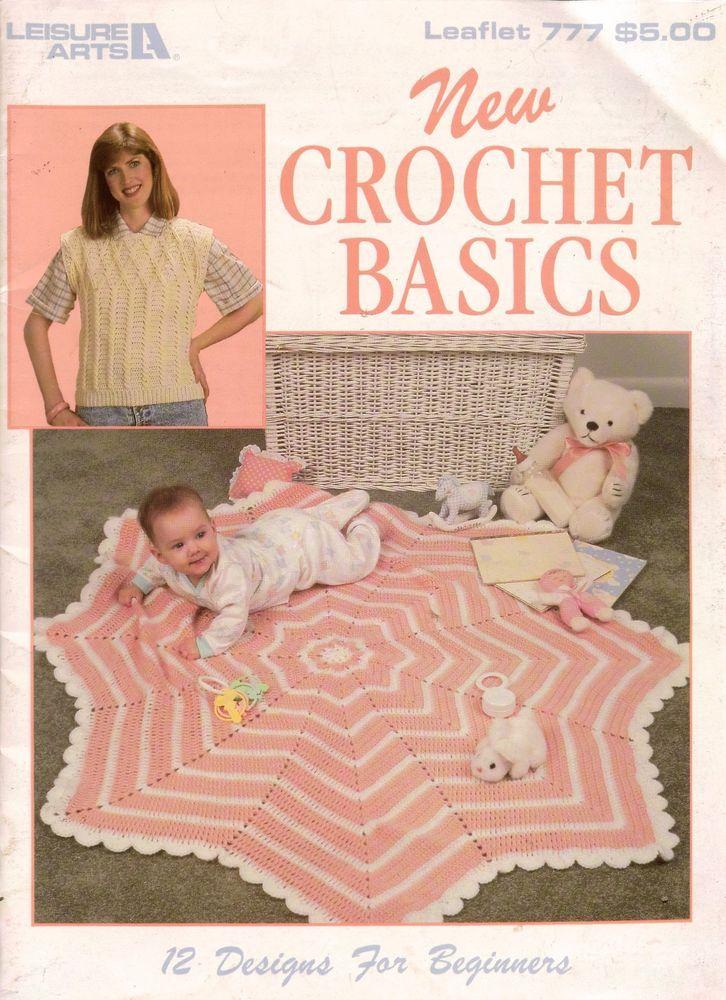 Crochet New Design : NEW CROCHET BASICS, 12 Designs for Beginners, Leaflet No. 777 ...