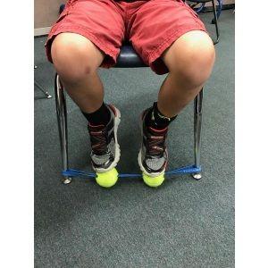 SENSORY FOOT FIDGET (Black Band / Neon Balls) - Helping Fidgety Learners Focus!!