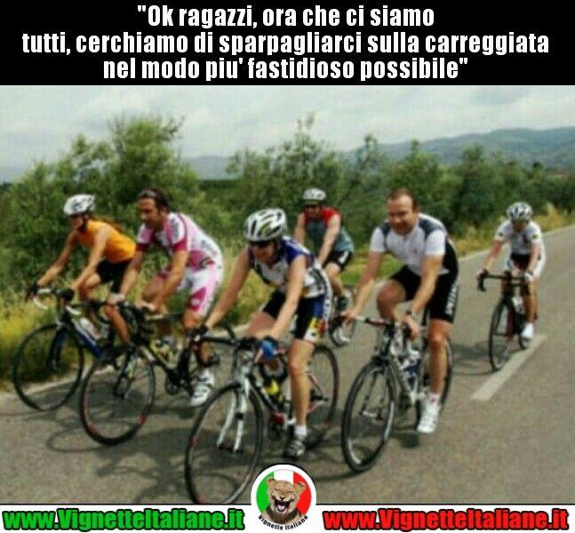 I ciclisti che non vuoi  #vignetteitaliane.it #vignette #divertenti #italiane #funny #lol #immagini #pics #ciclisti #sport #umorismo #risate #ridere