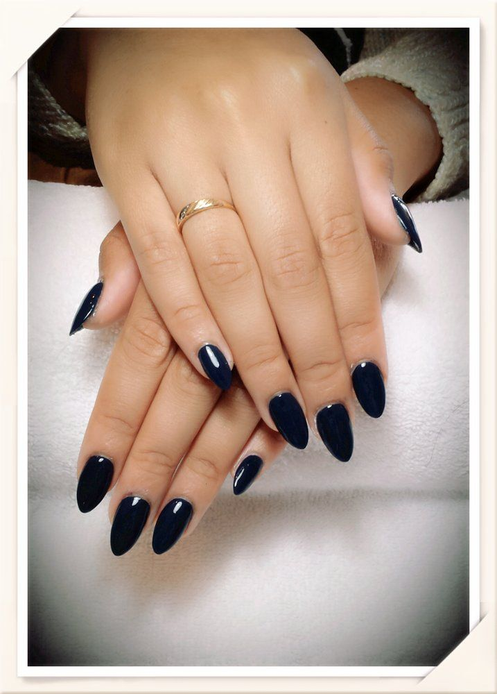 California Nail Design - La Mesa, CA, United States. Almond Acrylic Nails by Andy Hai Dinh