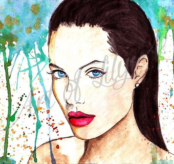 Angelina Jolie, Splash Art