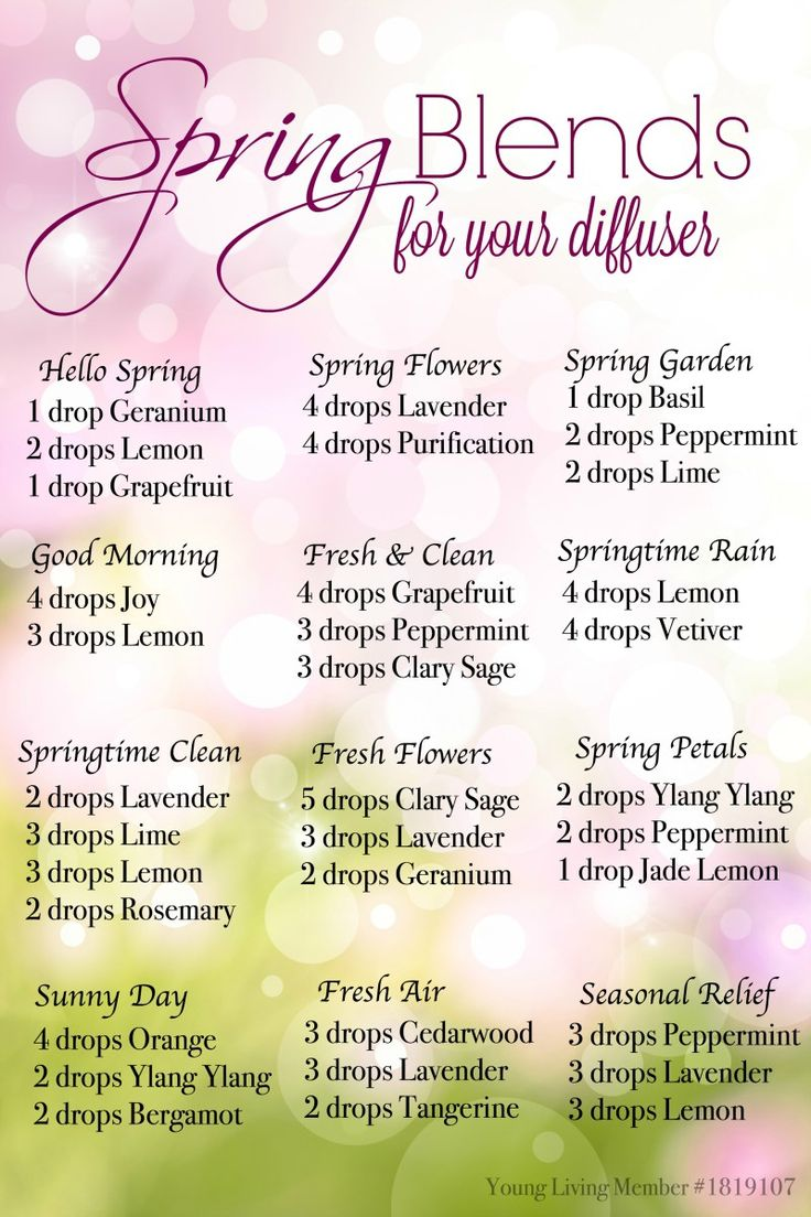 Spring Diffuser Recipes for Essential Oils #YLOils #theOilNation